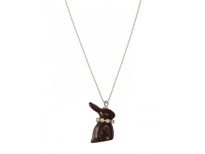 Náhrdelník - čokoládový zajíček