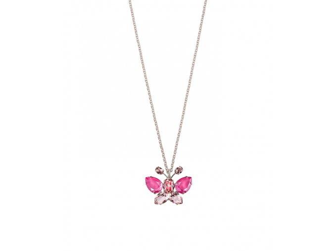 Křišťálový náhrdelník s motýlem