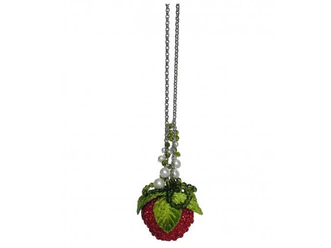 Kette lang mit Erdbeere von Rosa Templin (1)