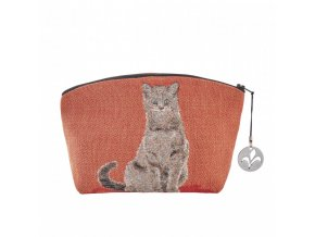 cosmetic bag tapestry cosmetic bag sitting cat