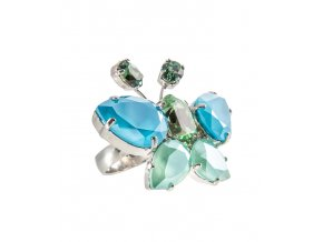 Schmetterling mint blau Ring