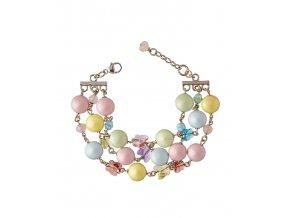Pastelový náramek s perlami
