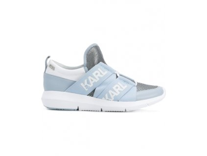 karl lagerfeld vitesse legere strap sneakers blue