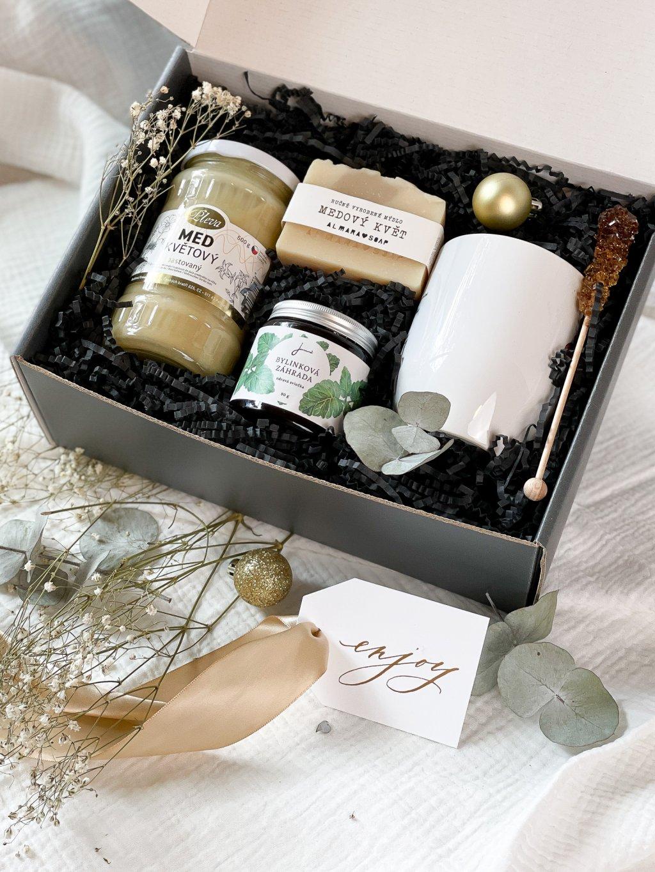 Vánoční dárkový balíček Medové pohlazení