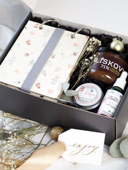 Vánoční dárkový balíček pro miminko a maminku
