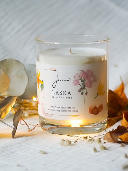 Sójová svíčka Láska   Jemnô