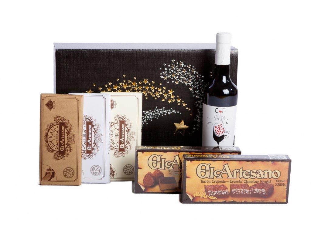 Dárkový balíček Čokoláda a červené víno