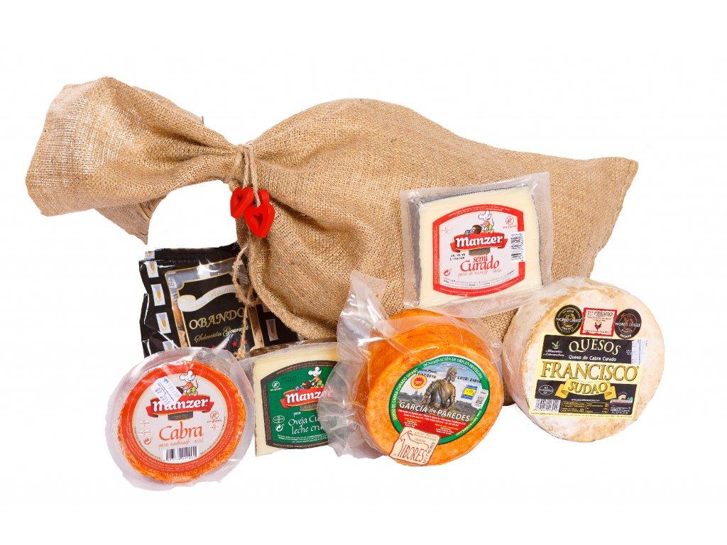 Dárkový pytel pro milovníky sýrů basic
