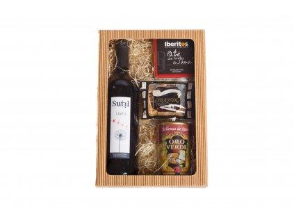 Dárkový balíček Španělské víno a delikatesy