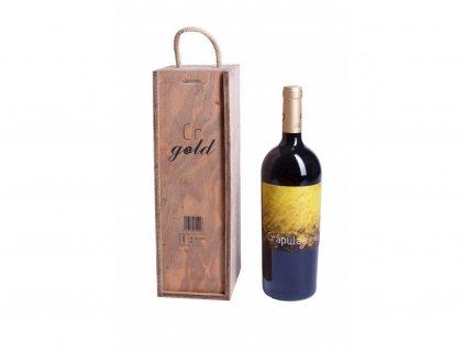 Dárkové balení Červené víno Crapula gold