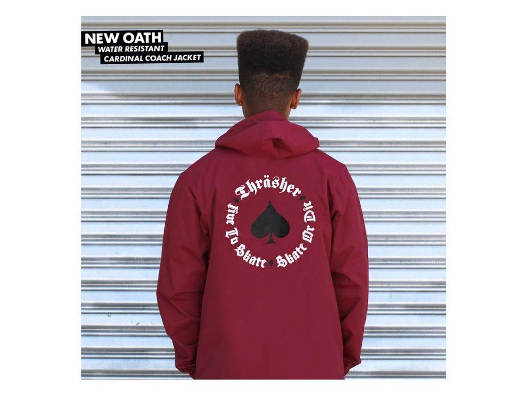 41da5354c2e1 Bunda Thrasher New Oath Coach Jacket (Cardinal) - Darkslide.cz