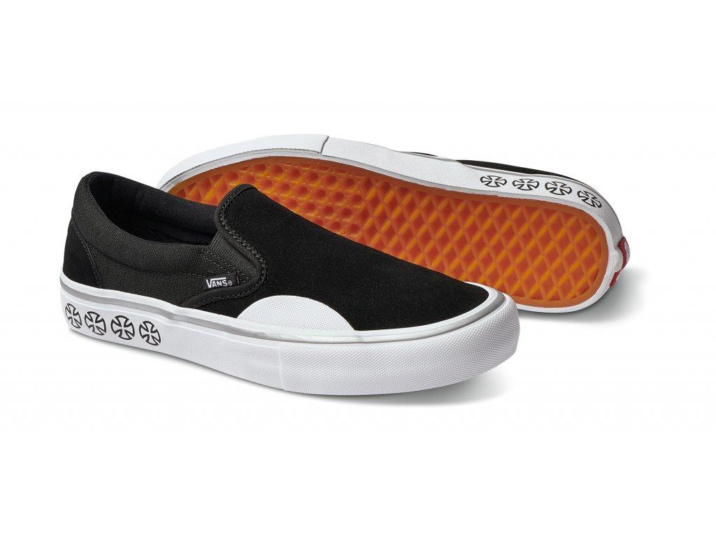 Boty Vans x Independent Slip-On Pro Black White - Darkslide.cz b94ac7513