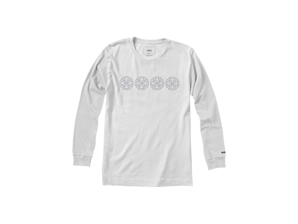 Triko Vans x Independent Iron Cross Longsleeve White - Darkslide.cz 2bebae14b9