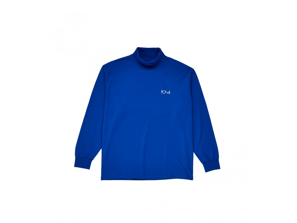 Triko Polar Script Turtleneck Egyptian Blue