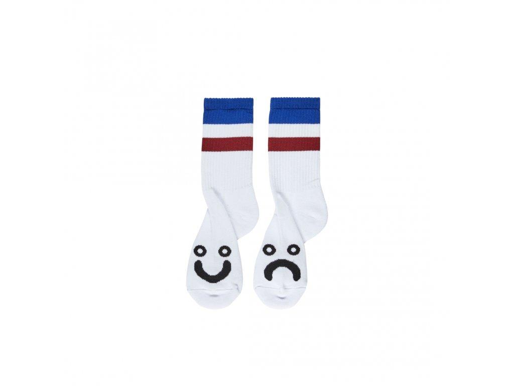 Ponožky Polar Happy Sad Socks Stripes Blue