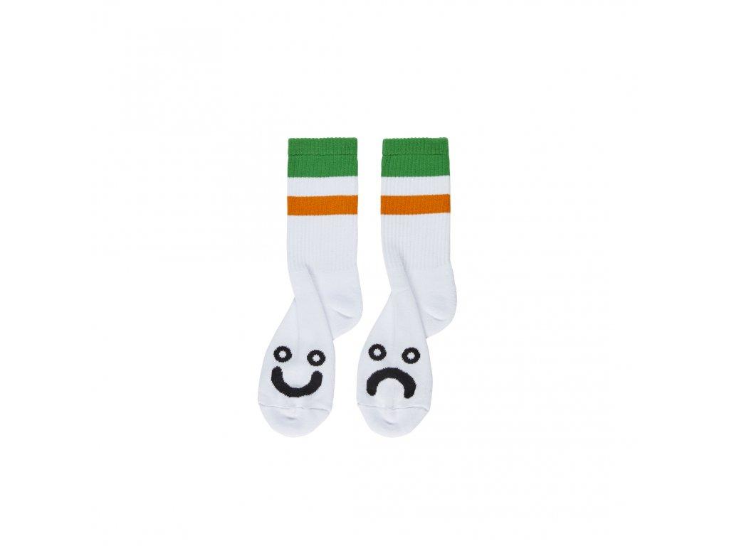 Ponožky Polar Happy Sad Socks Stripes Green