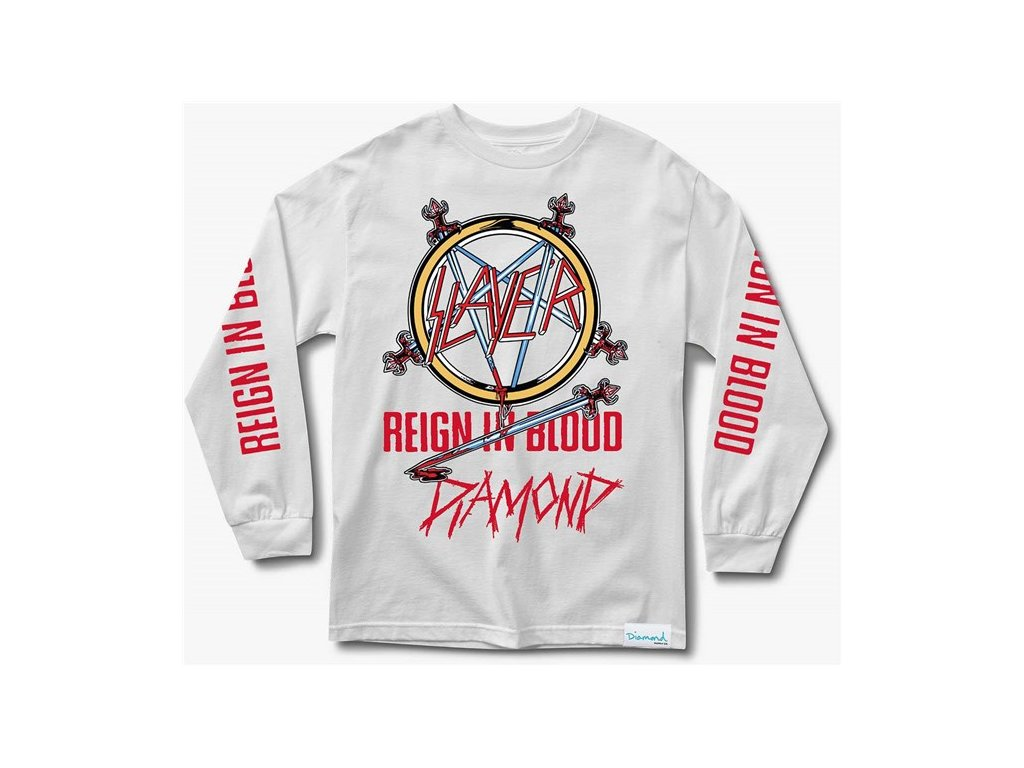 Triko Diamond x Slayer Reign In Blood Longsleeve White