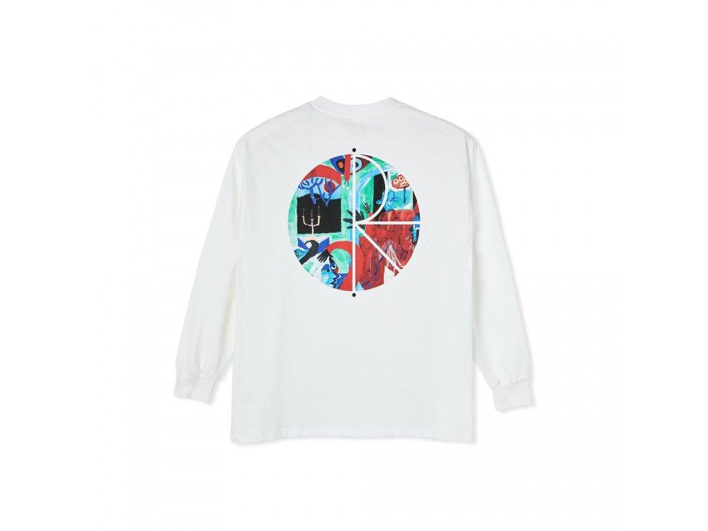 Triko Polar Moth House Fill Logo Longsleeve White