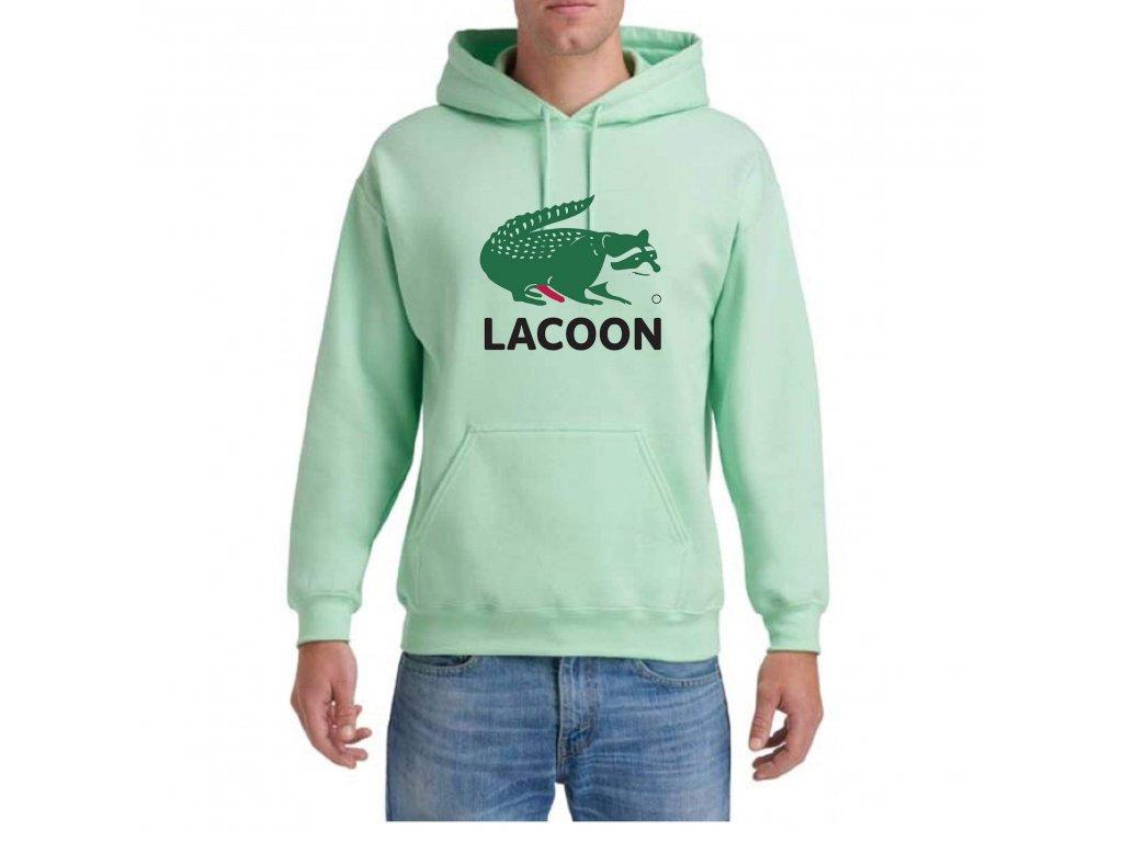 Mikina Raccoon Laccoon Mint