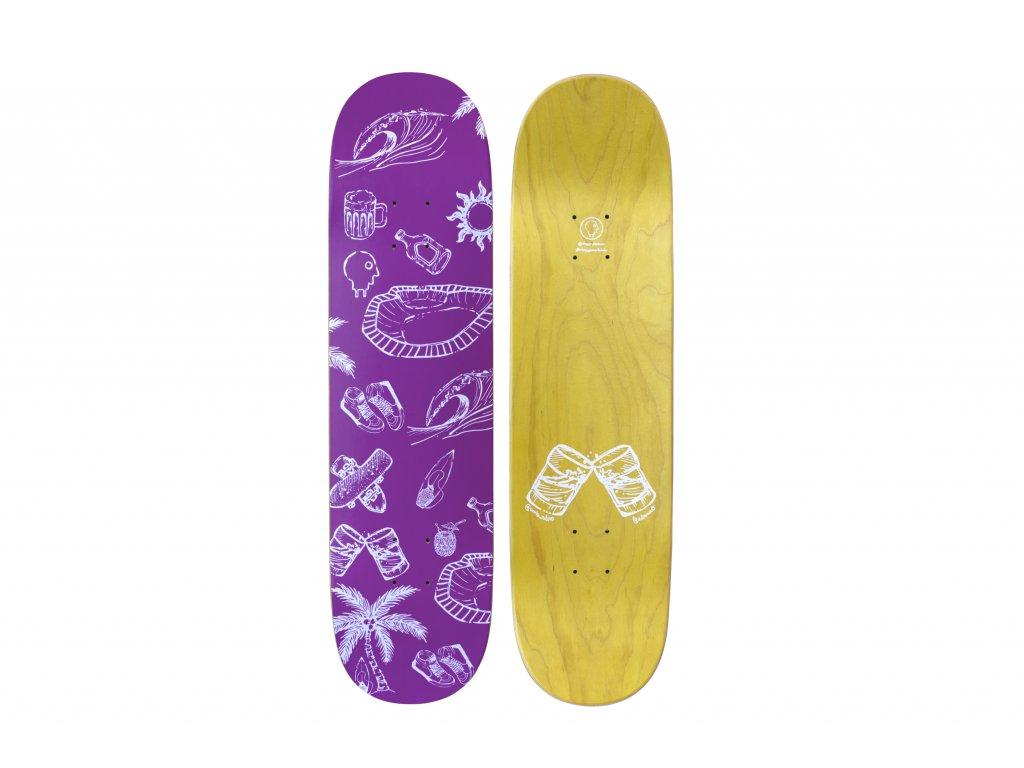 Deska Charge Surfclub Purple (deep concave)