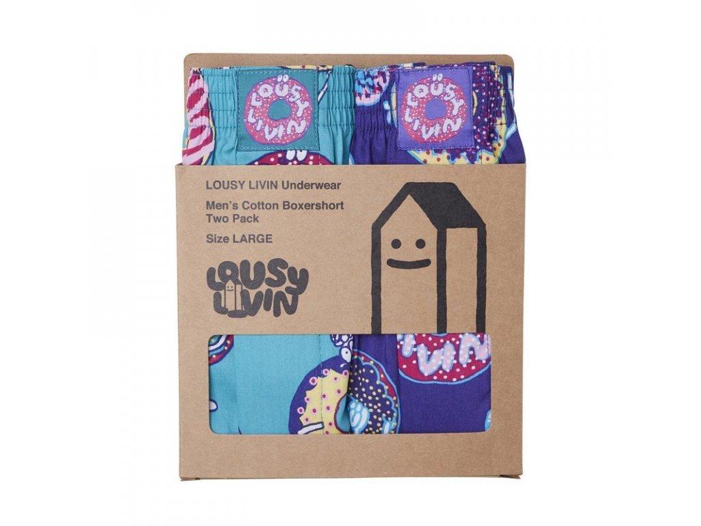Trenýrky Lousy Livin Boxershorts Lousy Donut (Jade/Liberty) 2 Pack
