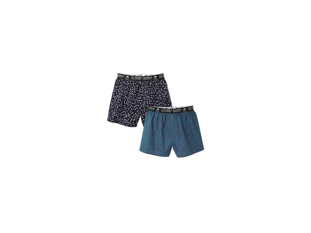Trenýrky Lousy Livin Boxershorts Dots (Blue) 2 Pack