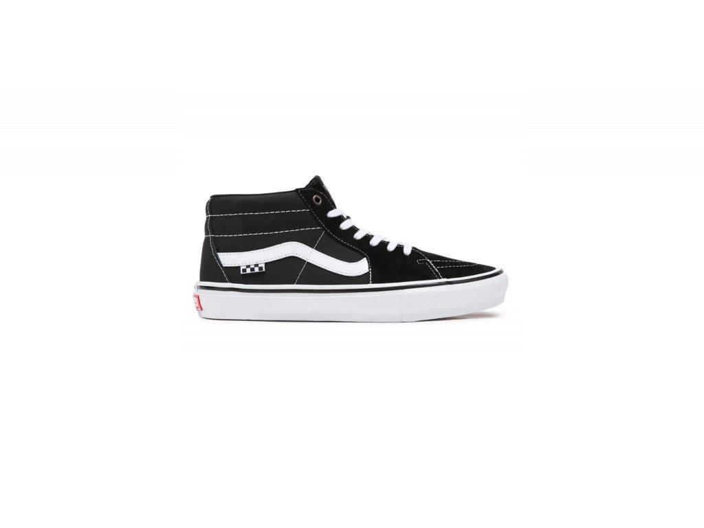 Boty Vans Skate Grosso Mid Black/White/Emo Leather