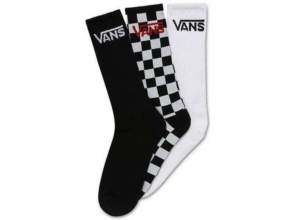 Ponožky Vans Classic Crew White/Checkerboard/Black