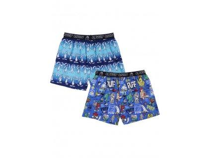 Trenýrky Lousy Livin Boxershorts Puff & Sundays (Blue) 2 Pack
