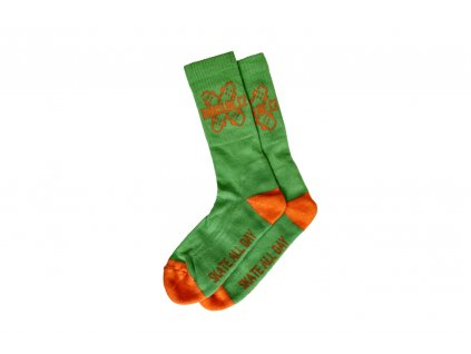 Ponožky Darkslide Crew Green/Orange
