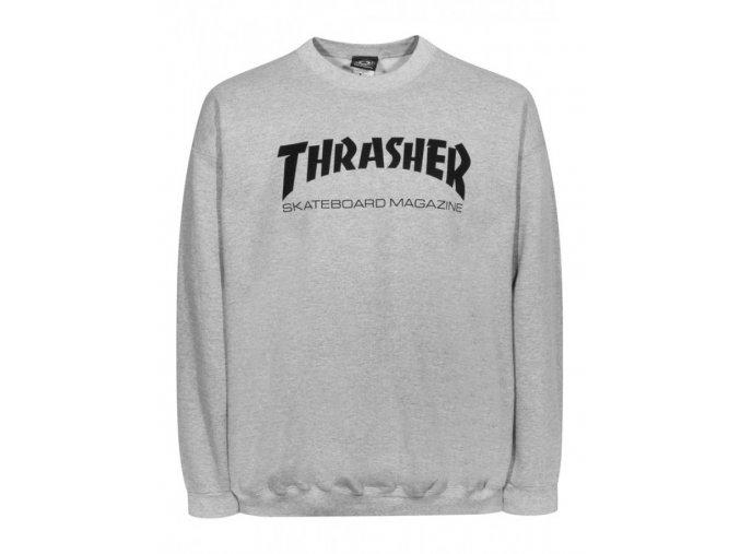 Mikina Thrasher Skate Mag Crew Neck Grey