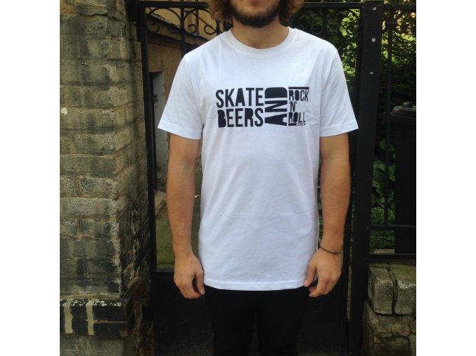 Triko Darkslide Skate, Beers and Rock'n'Roll White
