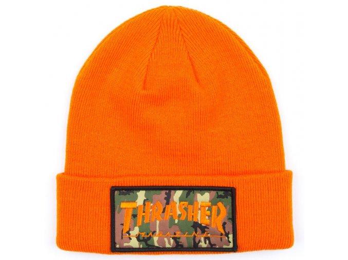 Kulich Thrasher Patch Beanie (Orange)