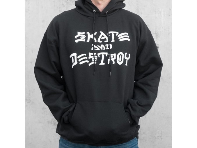 Mikina Thrasher Skate and Destroy Pull Over Hood