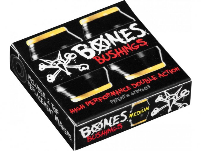 Silentblocky Bones Hardcore Bushings Medium (Black/Yellow)