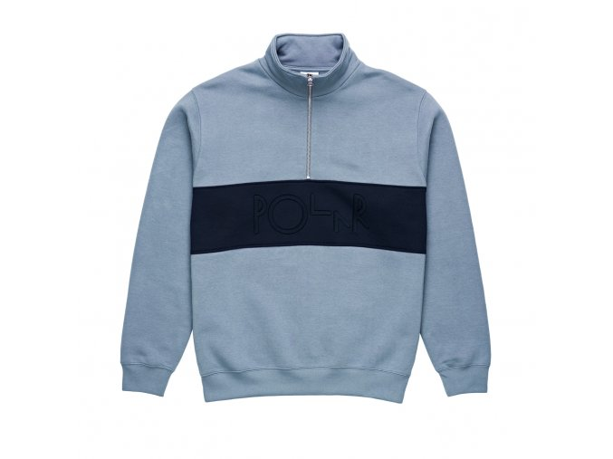 Mikina Polar Block Zip Sweatshirt Dusty Blue/Navy