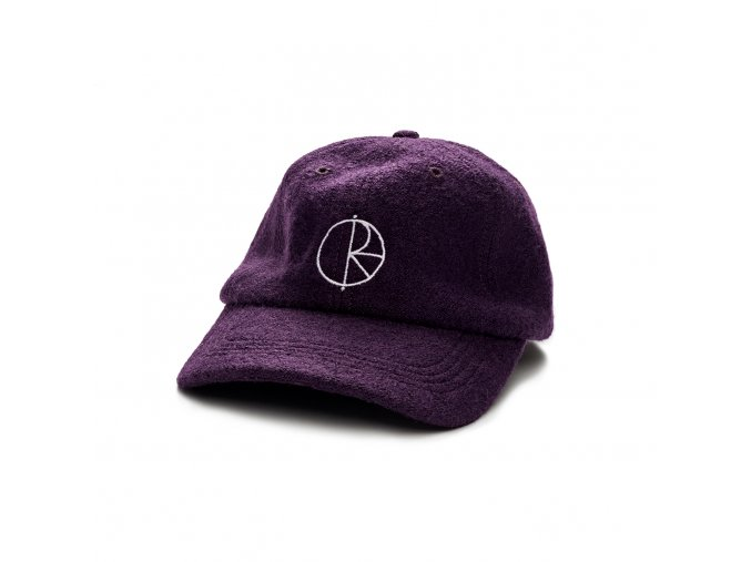 BOILED WOOL CAP AUBERGINE 1