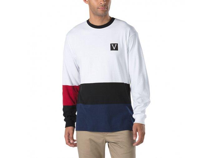 Triko Vans x Chima Colorblock Long Sleeve White/Black/Red/Blue