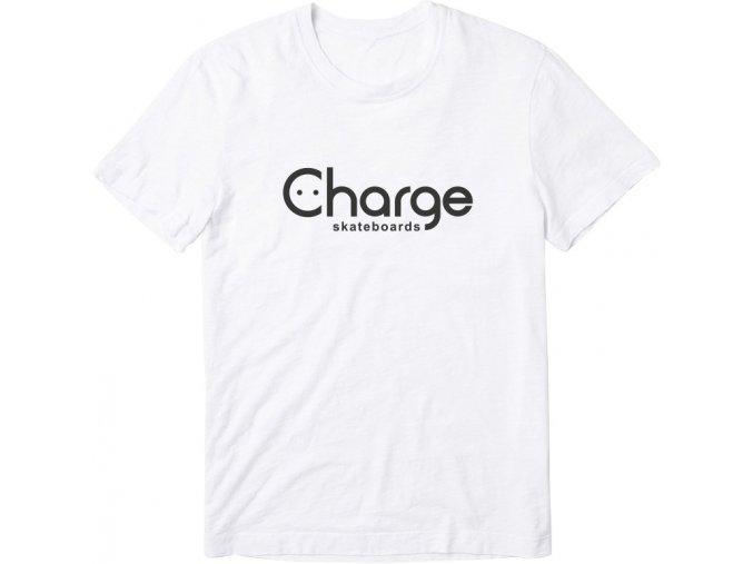 Triko Charge skateboards Logo White