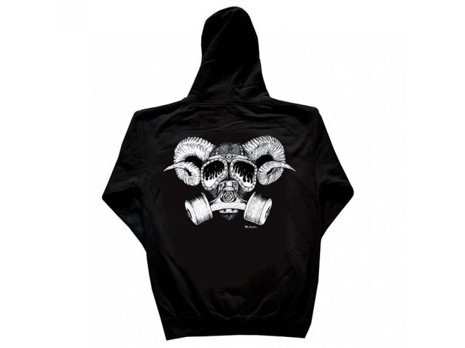 Mikina Confusion Goat Skull Black