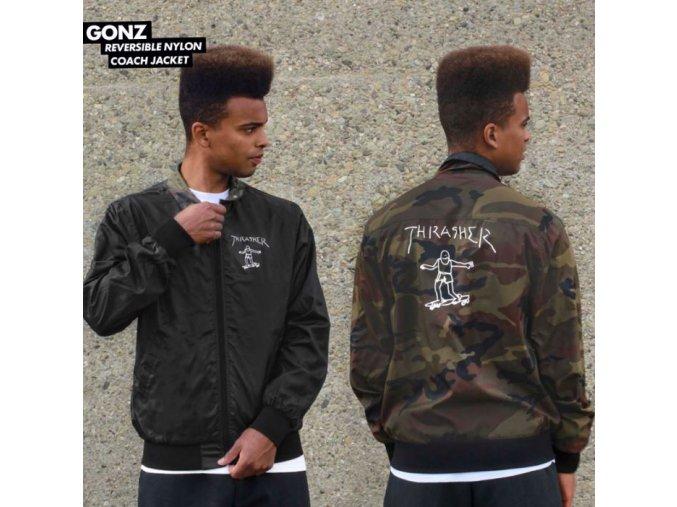 Bunda Thrasher Gonz Reversible Coach Jacket Black/Camo