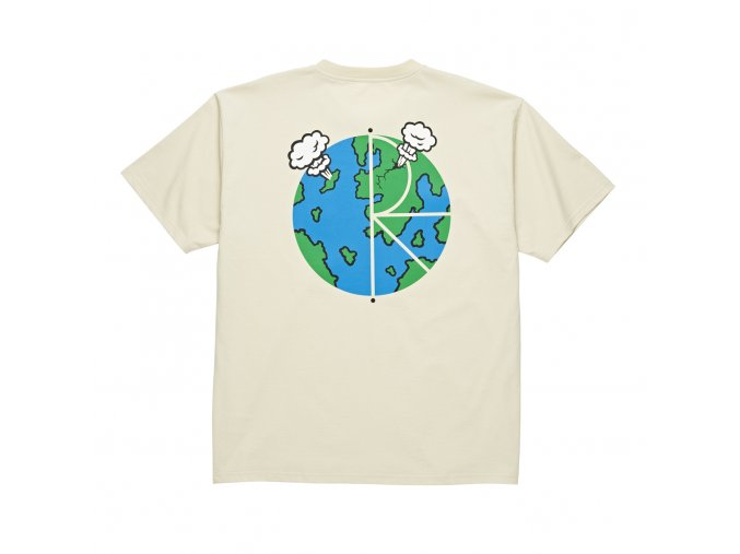 Triko Polar World Fill Logo Tee Sand
