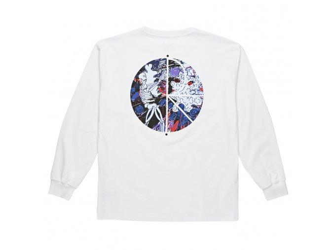 Triko Polar Skeleton Fill Logo Longsleeve White