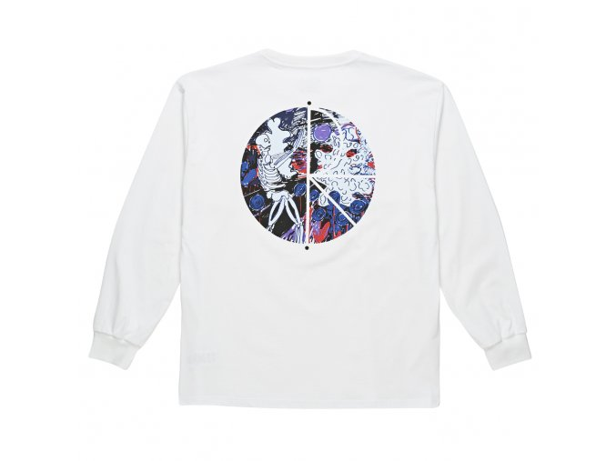 Triko Polar Skeleton Fill Logo Longsleeve White