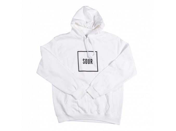 Mikina SOUR Army Box Hood White