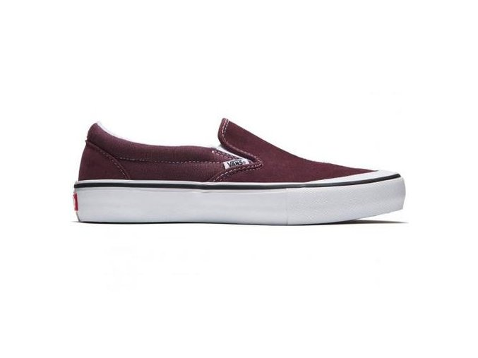Boty Vans Slip-On Pro (Toe-Cap) Raisin/White