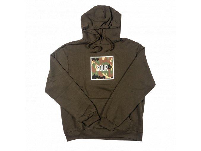Mikina SOUR Box Hood Olive/Camo