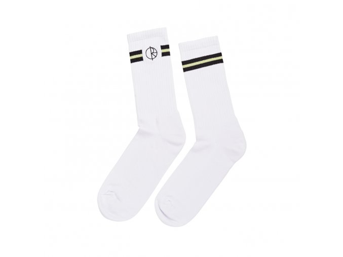 Ponožky Polar Stroke Logo Socks White/Black/Light Green
