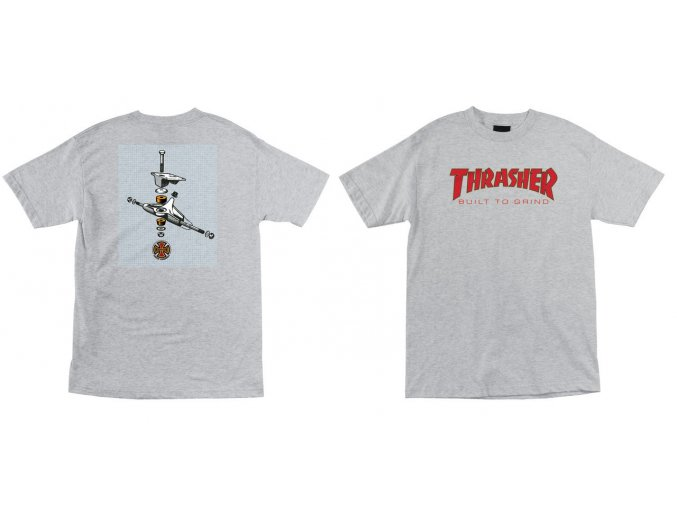 Triko Independent x Thrasher BTG Regular Athletic Grey