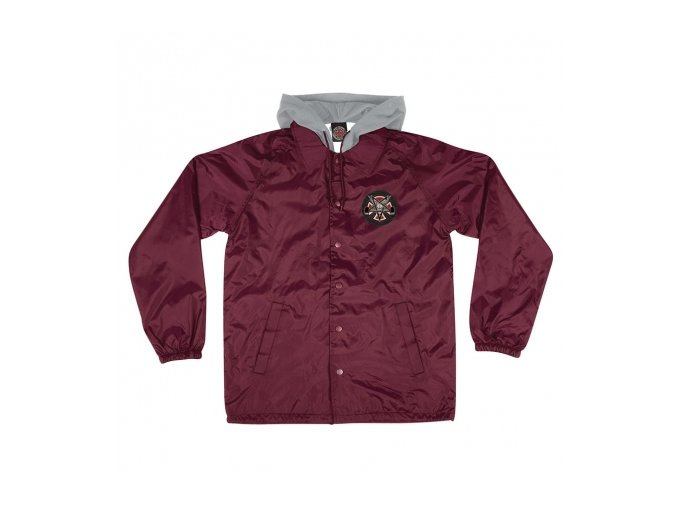 Bunda Independent x Thrasher Pentagram Cross Hooded Windbreaker Maroon